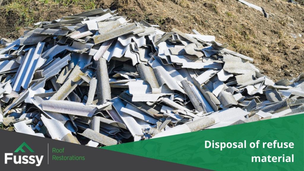Disposal of refuse material